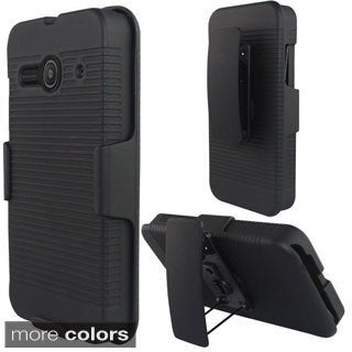 INSTEN Rubberized Hard Plastic PC Snap-on Holster Phone Case Cover For Alcatel One Touch Evolve 2
