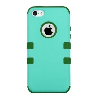 INSTEN Dual Layer Hybrid Rubberized Hard Plastic PC/ Silicone Phone Case Cover For Apple iPhone 5C