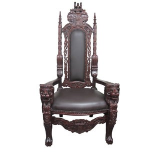 D-Art Collection Mahogany Wood Elephant King Chair
