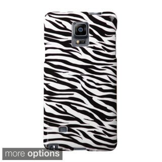 INSTEN Flower Design Pattern Rubberized Hard Plastic PC Snap-on Phone Case Cover For Samsung Galaxy Note 4