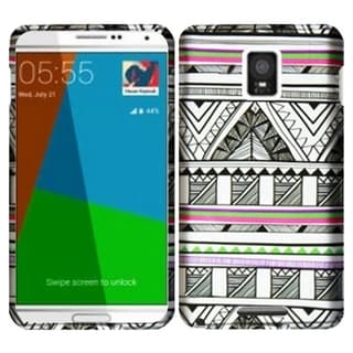 INSTEN Design Pattern Rubberized Hard Plastic PC Snap-on Phone Case Cover For Samsung Galaxy Note 4