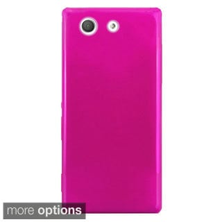 INSTEN Plain Frosted TPU Rubber Candy Skin Ultra-Slim Snap-On Phone Case Cover For Sony Xperia Z3