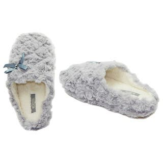 Vecceli Women's Grey Cotton Casual Slippers|https://ak1.ostkcdn.com/images/products/9683255/P16861925.jpg?impolicy=medium