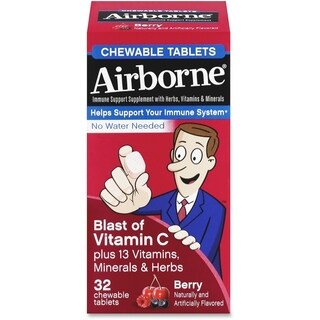 Airborne Immune Support Chewable Tablet Berry