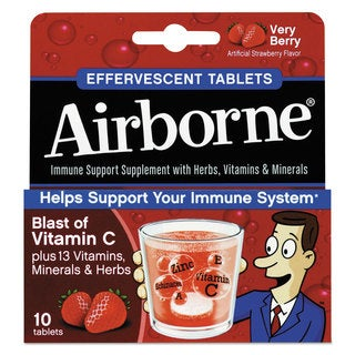 Airborne Immune Support Effervescent Very Berry Tablets 10 Count