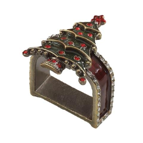Christmas Design Napkin Ring - set of 4