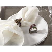 Christmas Design Napkin Ring - set of 4