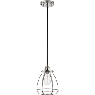 "Nuvo Vintage 1-Light 11"" Caged Pendant"