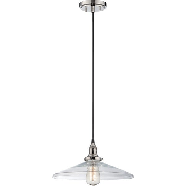 "Nuvo Vintage 1-Light 14"" Caged Pendant"