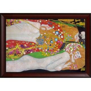 Gustav Klimt 'Water Serpents II (detail - Luxury Line)' Hand Painted Framed Canvas Art