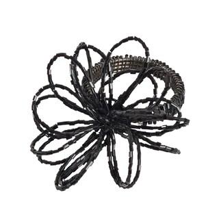 Beaded Design Napkin Ring - set of 4