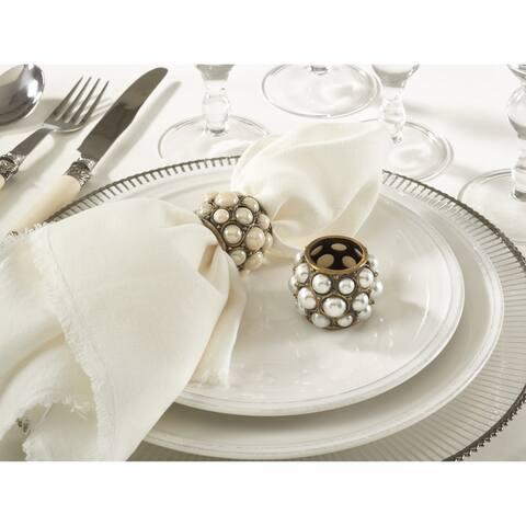 Pearl Design Napkin Ring - set of 4
