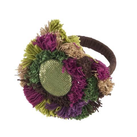 Flower Design Napkin Ring (Set of 4)