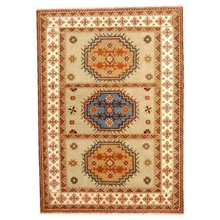 Herat Oriental Indo Hand-knotted Tribal Kazak Wool Rug (5'10 x 8'2)