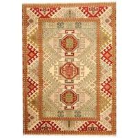 Herat Oriental Indo Hand-knotted Tribal Kazak Wool Rug - 5'8 x 7'11