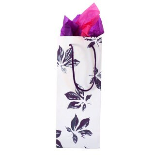 Set of 2 Handmade Purple Maple Recycled Cotton Wine Gift Bags (India)
