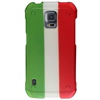 INSTEN Italy Flag Rubberized Hard Plastic PC Snap-on Phone Case Cover For Samsung Galaxy S5 Active SM-G870A