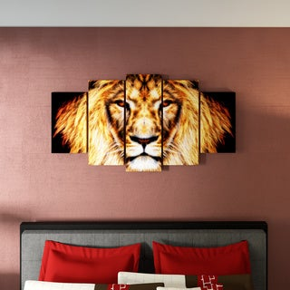 Porch & Den Hear Him Roar' Large Gallery Wrapped Canvas Art