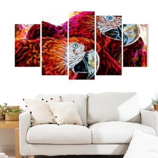 Macaw Parrots Animal Canvas Art (Multiple Sizes)