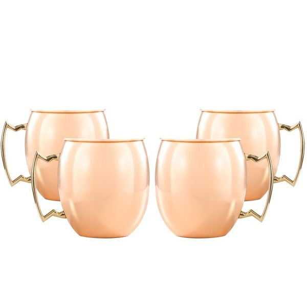 Handmade Moscow Mule 16-ounce Copper Mugs (India)