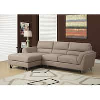 Light Brown Linen Sectional Sofa Lounger