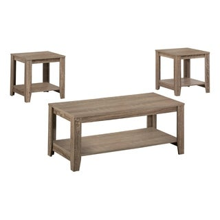 Dark Taupe Reclaimed-look 3-piece Table Set
