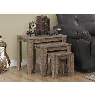 Dark Taupe Reclaimed-look 3-piece Nesting Table Set