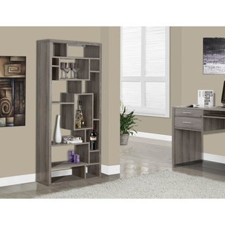 Dark Taupe Reclaimed-look Bookcase