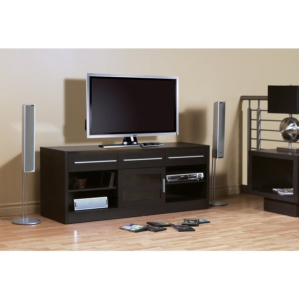 Cappuccino Brown Hollow Core 60-inch TV Console