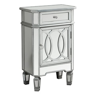 Mirrored Brushed Silver 29-inch Accent Table