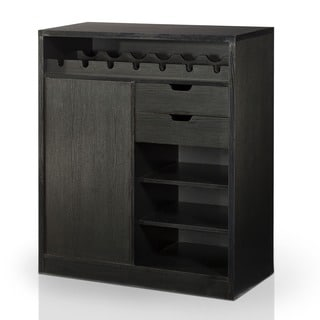 Furniture of America Keman Black Multi-Storage Dining Buffet