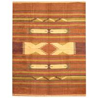 Herat Oriental Indo Hand-woven Chenille Dhurrie Wool Rug - 8' x 10'