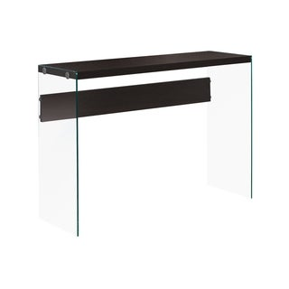 Cappuccino Hollow-core Tempered Glass Sofa Table