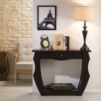 Clay Alder Home Four Bears Unique Cut-Out Walnut Console Table