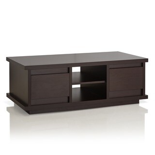 Captivating Furniture Of America Irvine Contemporary Walnut Coffee Table