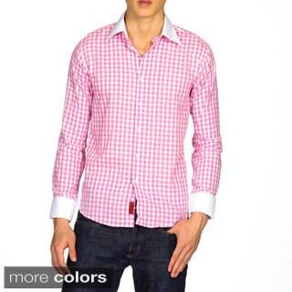 Elie Balleh Men's 2014 Style Cotton Plaid Slim Fit Shirt