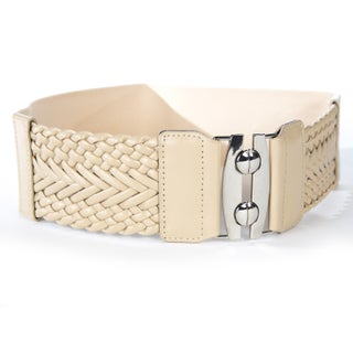 Women's Wide Braided Stretch Fashion Belt (More options available)