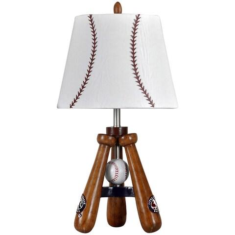 Baseball Theme Bat and Ball Stand Lamp
