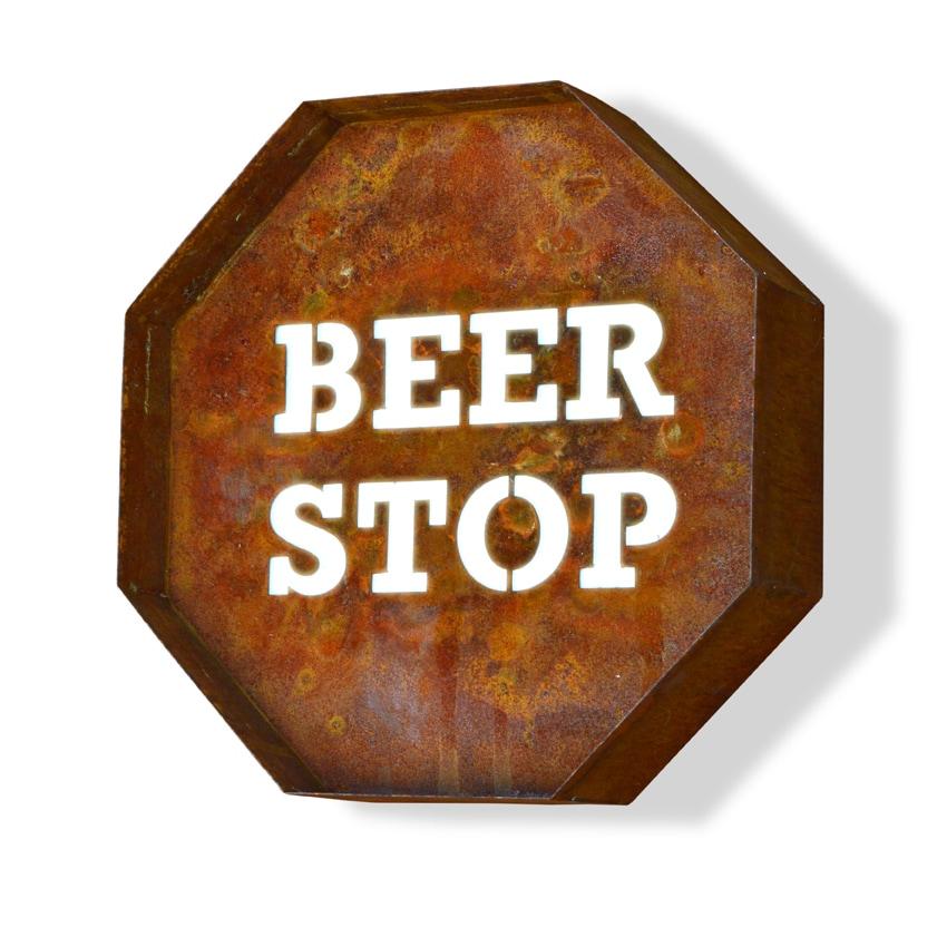 Trekshops Laser Cut Steel Beer Stop Iconic Profession/Com...