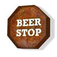 Laser Cut Steel Beer Stop Iconic Profession/Commercial MarqueeSign