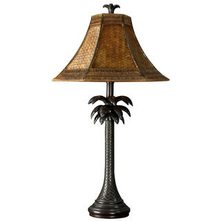 Bronze Palm Tree Table Lamp