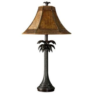 Bronze Palm Tree Table Lamp