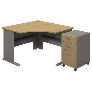 BBF Series A Collection 3-drawer Mobile Pedestal Corner Desk