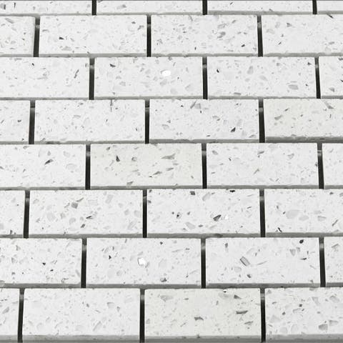 Martini Mosaic Essen 11.75x11.75 White Luster Tiles (Set of 6)