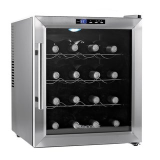 Wine Enthusiast Silent Stainless Steel 16-bottle Wine Cooler