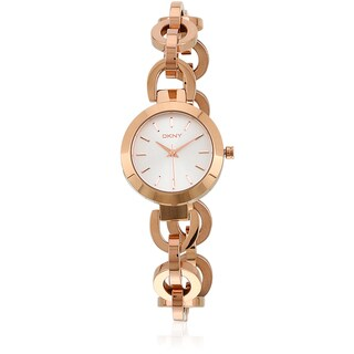 DKNY Women's NY2135 Stanhope Chainlink Rose Goldtone Watch