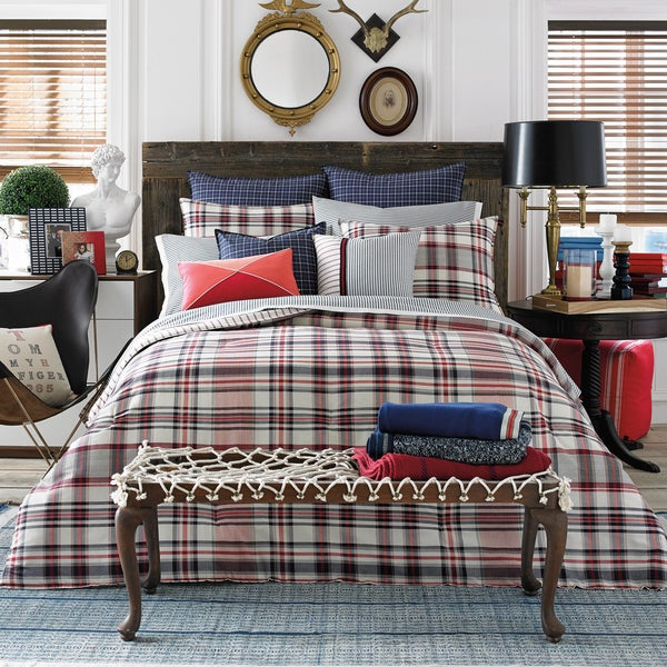 Shop Tommy Hilfiger Vintage Plaid Cotton Comforter Set