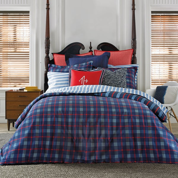 Shop Tommy Hilfiger Boston Plaid Comforter Set Free