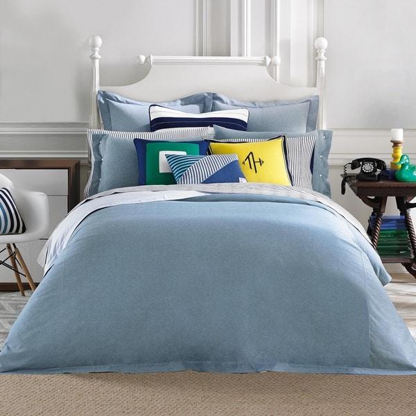 Shop Tommy Hilfiger Modern Sands Chambray Comforter Free