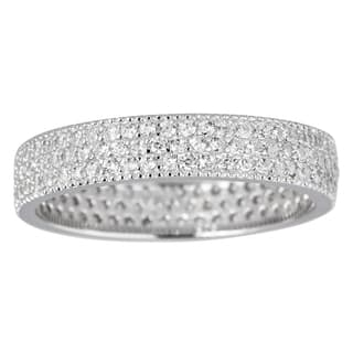 Decadence Sterling Silver Cubic Zirconia 3-strand Micropave Eternity Ring|https://ak1.ostkcdn.com/images/products/9684225/P16862808.jpg?impolicy=medium